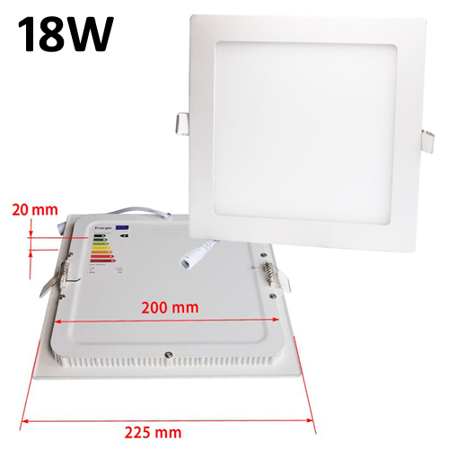 18w Led Panel Light Flat Ultra Thin Led Panel Downlight: JSG Accessories LED Square Recessed Ceiling Panel Down